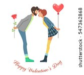 young couple. happy valentines... | Shutterstock .eps vector #547362868