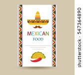 mexican food cover menu... | Shutterstock .eps vector #547364890