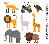 vector flat style set of... | Shutterstock .eps vector #547371040