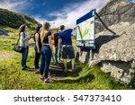 team leader explaining the... | Shutterstock . vector #547373410