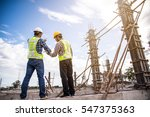 male engineer talking with...   Shutterstock . vector #547375363