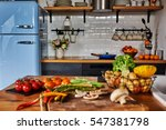vintage style kitchen and... | Shutterstock . vector #547381798