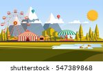 flat illustration of amusement... | Shutterstock .eps vector #547389868