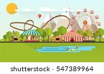 flat illustration of amusement... | Shutterstock .eps vector #547389964