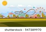 flat illustration of amusement... | Shutterstock .eps vector #547389970