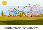 flat illustration of amusement... | Shutterstock .eps vector #547389994