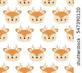 Cute Deers. Vector Illustratio...