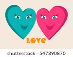 couple in love. two happy... | Shutterstock .eps vector #547390870