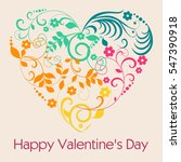 sweet colorful heart  happy... | Shutterstock .eps vector #547390918