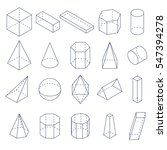 set of 3d geometric shapes.... | Shutterstock .eps vector #547394278
