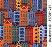 city seamless pattern. european ... | Shutterstock .eps vector #547394284