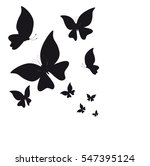 Stock vector beautiful butterflies on a white 547395124