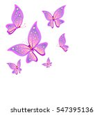 Stock vector beautiful butterflies on a white 547395136