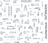 construction tools  building ... | Shutterstock .eps vector #547396354