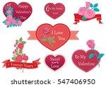 valentine's day decorative... | Shutterstock .eps vector #547406950