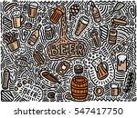 beer background in doodle style | Shutterstock .eps vector #547417750