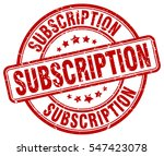 subscription. stamp. red round...   Shutterstock .eps vector #547423078