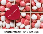 red heart on wooden box of...   Shutterstock . vector #547425358