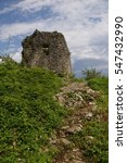 Small photo of old ruined castle in Abkhazia Photo