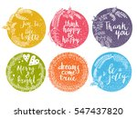 vector flower frame. beautiful... | Shutterstock .eps vector #547437820