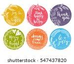 vector flower frame. beautiful... | Shutterstock .eps vector #547437820