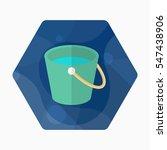 bucket icon   vector flat long...   Shutterstock .eps vector #547438906
