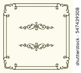 decorative frame | Shutterstock .eps vector #547439308