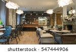 interior of caffe restaurant.   ... | Shutterstock . vector #547444906