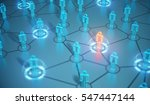 3d render human social network... | Shutterstock . vector #547447144