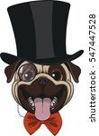 funny pug in hat | Shutterstock .eps vector #547447528