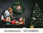 very beautiful blonde cheerful...   Shutterstock . vector #547448854