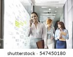 young businesswoman on call... | Shutterstock . vector #547450180