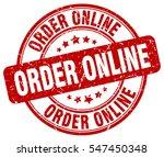 order online. stamp. red round... | Shutterstock .eps vector #547450348