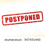illustration of postponed text... | Shutterstock .eps vector #547451440