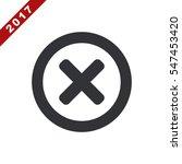 cross icon vector flat design...   Shutterstock .eps vector #547453420