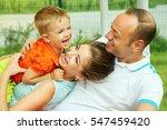 outdoor portrait of a happy...   Shutterstock . vector #547459420