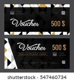 gift voucher coupon discount.... | Shutterstock .eps vector #547460734