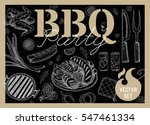 set bbq party. barbecue... | Shutterstock .eps vector #547461334