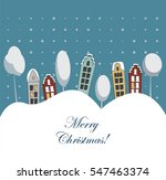 merry christmas and happy new... | Shutterstock .eps vector #547463374