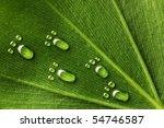 Beautiful Water Footprint Drop...