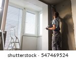 construction worker wearing... | Shutterstock . vector #547469524