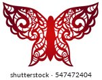 laser cut flower butterfly... | Shutterstock .eps vector #547472404