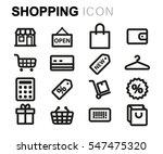 vector line shopping icons set... | Shutterstock .eps vector #547475320