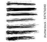 black ink vector brush strokes. ... | Shutterstock .eps vector #547476040