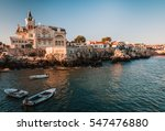 sea view of a beautiful town... | Shutterstock . vector #547476880