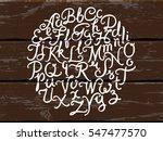 handwritten alphabet vector... | Shutterstock .eps vector #547477570