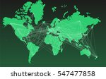 world map with big cities ... | Shutterstock .eps vector #547477858