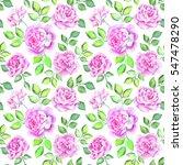 watercolor flower pattern | Shutterstock . vector #547478290