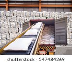 white bags of sugars from... | Shutterstock . vector #547484269