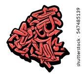red wild style graffiti piece... | Shutterstock .eps vector #547485139